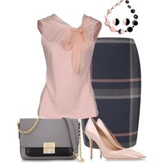 "HATE the pointy shoes, the color is nice though. - ""Pencil Skirt"" by marisol-menahem on Polyvore"