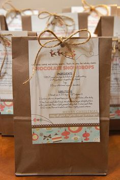 Cookie exchange recipe and bag