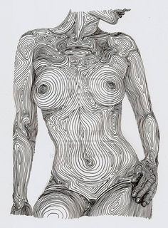 female nude line drawing