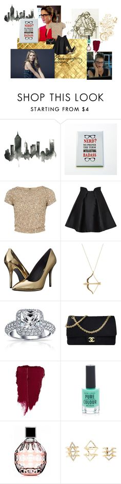 """""""Felicity Smoak"""" by taurielofmirkwood821 ❤ liked on Polyvore featuring Alice + Olivia, Paper London, Pierre Balmain, Sydney Evan, Bling Jewelry, Chanel, New Look, Jimmy Choo and Charlotte Russe"""