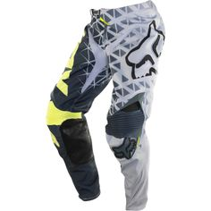 FOX 360 GIVEN PANT - GREY/YELLOW Dirt Bike Gear, Dirt Bike Racing, Dirt Biking, Motocross Pants, Motorcycle Pants, Fox Racing, Riding Gear, Riding Clothes, Jackets