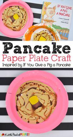 Pancake Paper Plate