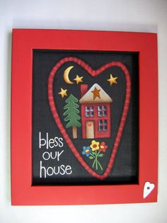 Tole Painting Pattern Bless our House DIY por barbsheartstrokes, $5.00