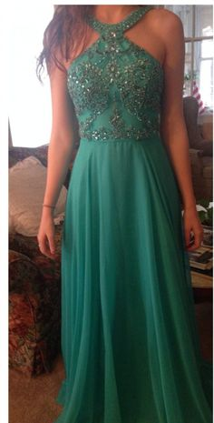 Green Prom Dress Long Evening Party Dresses pst0916