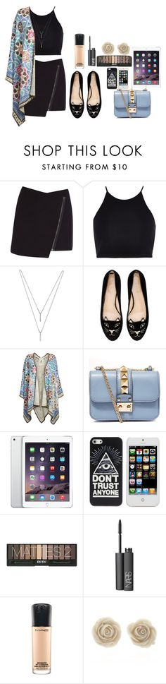 """Untitled #125"" by mimicherelus ❤ liked on Polyvore featuring Helmut Lang, River Island, BCBGeneration, Charlotte Olympia, Valentino, NARS Cosmetics and MAC Cosmetics"