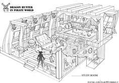 Old School RPG 3/4 Rooms Ship Sketch, Ship Map, Model Ship Building, Old Sailing Ships, Wooden Ship, Fantasy Map, Yacht Design, Anime Fairy, Fantasy Landscape