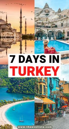 This 7 Day Turkey Itinerary includes everything you would want to do from Istanbul, to hot air ballooning in Cappadocia, walking through history in Epheusus to hitting the beaches in the stunning Turkish Riviera. How to plan the perfect Turkey Itinerary | Best things to do in Turkey | Beautiful places to see in Turkey | Turkey travel guide | Bucket list places to visit on your Turkey trip | Tips and tricks for Turkey travel | What to wear in Turkey #turkey #cappadocia #istanbul #ephesus #bodrum Europe Travel Guide, Asia Travel, Travel Guides, Travel Destinations, European Travel, Underground Cities, Turkey Travel, Travel Goals, Cool Places To Visit