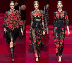 robes-imprimé-oeillets-tendance-printemps-été-2015-Dolce-Gabbana