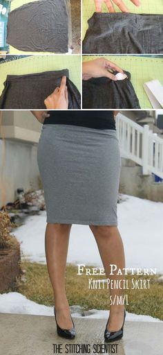 21 DIY Pencil Skirt Ideas and Tutorials