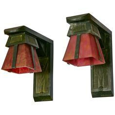 French Art Deco Sconces Signed by Max Le Verrier, circa 1920-1930 | From a unique collection of antique and modern wall lights and sconces at https://www.1stdibs.com/furniture/lighting/sconces-wall-lights/
