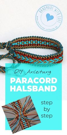 DIY Anleitung Paracord Hunde-Halsband A really cool gift for all dog lovers & this homemade dog collar made of Paracord is a real eye-catcher! # Dog Collar The post DIY Instructions Paracord Dog Collar appeared first on Katherine Levine. Paracord Diy, Paracord Collar, Paracord Bracelets, Paracord Ideas, Chain Bracelets, Jewelry Tags, Jewelry Crafts, Beaded Jewelry, Seed Bead Tutorials