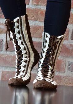 TUN104 Boot Cuffs, Knitting Socks, Leg Warmers, Mittens, Knitting Patterns, Knit Crochet, Slippers, Footwear, Villa