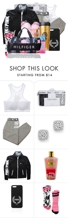 """""""I Sleep On You Hoes"""" by denise-loveable-bray ❤ liked on Polyvore featuring moda, Victoria's Secret, Calvin Klein Underwear, Bloomingdale's, NIKE y Tommy Hilfiger"""