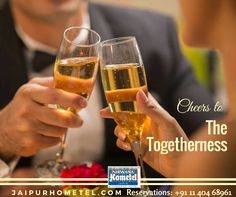 Cheers to all those special moments of togetherness, it's worth celebrating. Enjoy every bit of it along with few glasses of sparkling beverages and yummy platters.  Reservations: +91 11 404 68961 or, Visit us: jaipurhometel.com  #Bar #Cocktail #ChillBar #BarsinJaipur #jaipurbars #NirwanaHometelJaipur #JaipurHotels