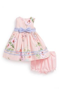 Laura Ashley Floral Print Dress & Bloomers (Baby Girls) available at #Nordstrom                           awww, too bad CJ has probably outgrown it!!!!