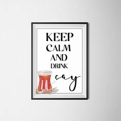 Keep calm, Islamische Kunst, Wanddekoration, islamic wall art, islamic decor, turkishtea