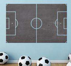 Vinilo decorativo pizarra campo de fútbol