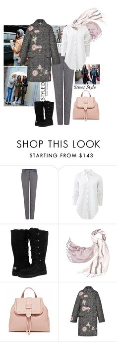 """Street Style"" by belldraw ❤ liked on Polyvore featuring Balmain, Pink Tartan, rag & bone, UGG Australia, Tory Burch, Blumarine, women's clothing, women, female and woman"