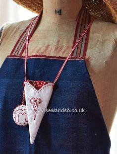 Buy Redwork Scissor Holder Sewing Pattern - DOWNLOAD ONLY Online at www.sewandso.co.uk
