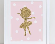 Nursery Ballerina Art Nursery Decor Hand Painted by ShenasiConcept