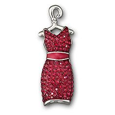 Red dress pin for heart disease