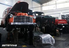 Utilitários Chevrolet na Batistinha Garage: restaurações, customizações e revisão geral.  #GM #Chevrolet #Chevy #C10 #Pickup #Picape #Batistinha #Garage #BatistinhaGarage