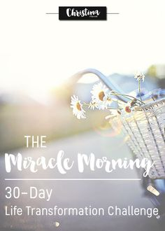 Preparing for the 30 Day Life Transformation Challenge from the Miracle Morning book by Hal Elrod Miracle Morning, Morning Ritual, Self Development, Personal Development, 5am Club, Good Habits, 30 Day Challenge, Best Self, Planners