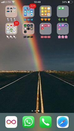 My home screen iphone app organize ideas телефон, экраны, об Iphone Home Screen Layout, Iphone App Layout, Home Screens Iphone, Home Screen Iphone Wallpapers, Lock Screens, Smartphone, Iphone Novo, Organize Apps On Iphone, Iphone Homescreen Wallpaper
