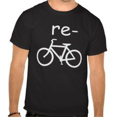 Recycle Bicycle Funny Tee Shirt