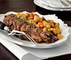 Μοσχάρι στο φούρνο | Συνταγή | Argiro.gr Oven Roast Beef, Best Greek Food, Meat Rolls, Low Sodium Recipes, Greek Cooking, Sunday Roast, Sirloin Steaks, Food Categories, Rolls Recipe