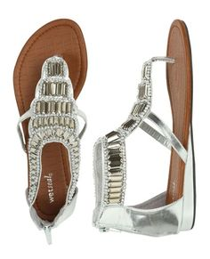 Jewel Gladiator Sandal - Teen Clothing by Wet Seal - StyleSays