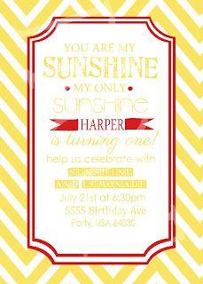 Sunshine and Lemonade Invitation Printable!