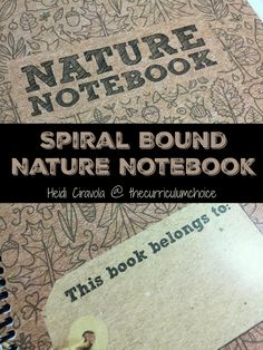 I love this Nature Notebook because it is simple, gives you some direction but also leaves open ended space for things you find on your own.