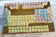 Periodic Table of the Elements wedding / grooms cake - made out of petit fours! (created by Publix)