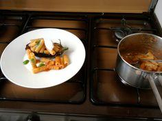Tortiglioni la sauce tomate aubergines et ricotta fraîche.Gino D'Aquino