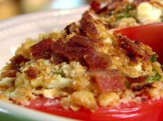 Blue Cheese and Bacon Broiled Tomatoes from FoodNetwork.com