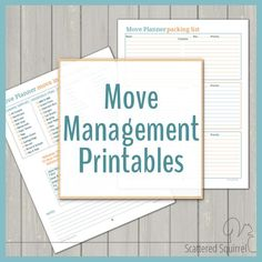 Here are some handy printables for building a Move Management Binder.
