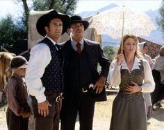 """Mel Gibson, James Garner, Jodie Foster, in """"Maverick""""."""