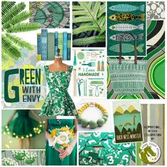 I woke up this morning completely inspired to create a new collection & my mind is filled with the color GREEN! I hope you enjoy the little mood board I threw together & you all have an inspired day! Tableaux D'inspiration, Fashion Illustration Sketches, Illustrations, Fashion Design Drawings, Color Pallets, Teaching Art, My Favorite Color, Decoration, Designs To Draw