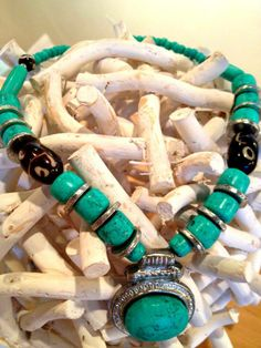 Gorgeous Turquoise Necklace Mixology Interiors & Art https://www.facebook.com/pages/MixologyInteriorsArt/100253706775248