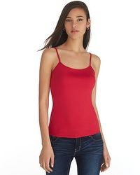 Red Scoop Neck Cami #whbm