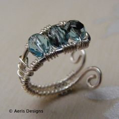 Pretty adjustable wire wrap ring