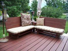 Gartenbank selber bauen aus paletten  gartenbank DIY projekt frühling design holz braun lackiert ...