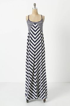 Striped maxi that might actually be slimming!  Smocked Maxi Chemise - Saturday/Sunday Anthropologie