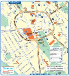Map of Doncaster created in 2011 for Thomson Directories One of