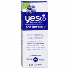 I'm learning all about Yes to Blueberries Age Refresh Eye Firming Treatment at @Influenster!