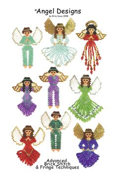 Currently 50% off SALE! Angel Designs eBook by Rita Sova at Bead-Patterns.com