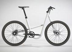 Unisex bike by Premisse Design Velo Design, Bicycle Design, Velo Vintage, Vintage Bicycles, Cargo Bike, Moto Bike, Scooters, Bmx, Motorised Bike
