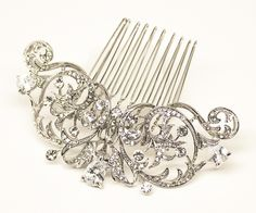 """Hair Comes the Bride - Classic Vintage Rhinestone Bridal Hair Comb ~ """"Isabella"""", $43.00 (http://www.haircomesthebride.com/classic-vintage-rhinestone-bridal-hair-comb-isabella/)"""