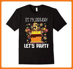It's My Birthday 5 Let's Party 5th Birthday T Shirt Herren, Größe 3XL Schwarz